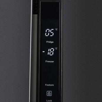 Холодильник Hyundai CS4505F черная сталь