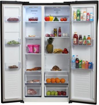 Холодильник Hyundai CS5003F черное стекло