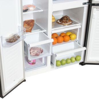 Холодильник Hyundai CS5005FV черное стекло