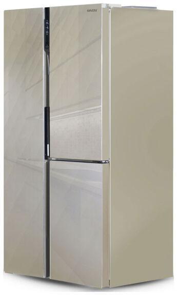 Холодильник Ginzzu NFK-475 Gold glass