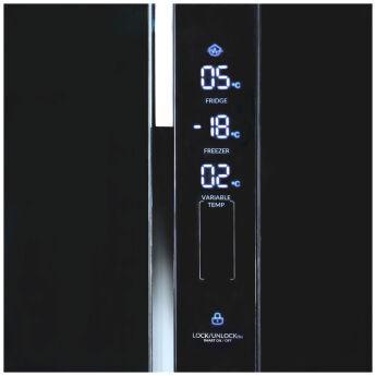 Холодильник Ginzzu NFK-475 Black glass