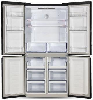 Холодильник Ginzzu NFK-575 Black glass