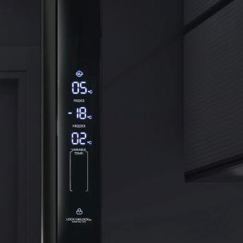 Холодильник Ginzzu NFK-610 Black glass