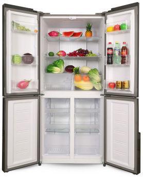 Холодильник Ginzzu NFK-500 White glass
