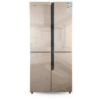 Холодильник Ginzzu NFK-500 Gold glass